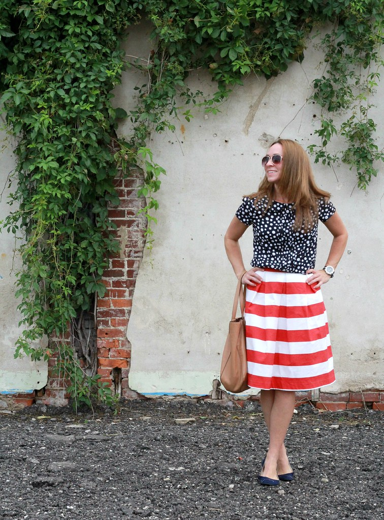 how to style navy and red via Kristina J blog