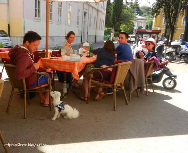 Компания в кафе
