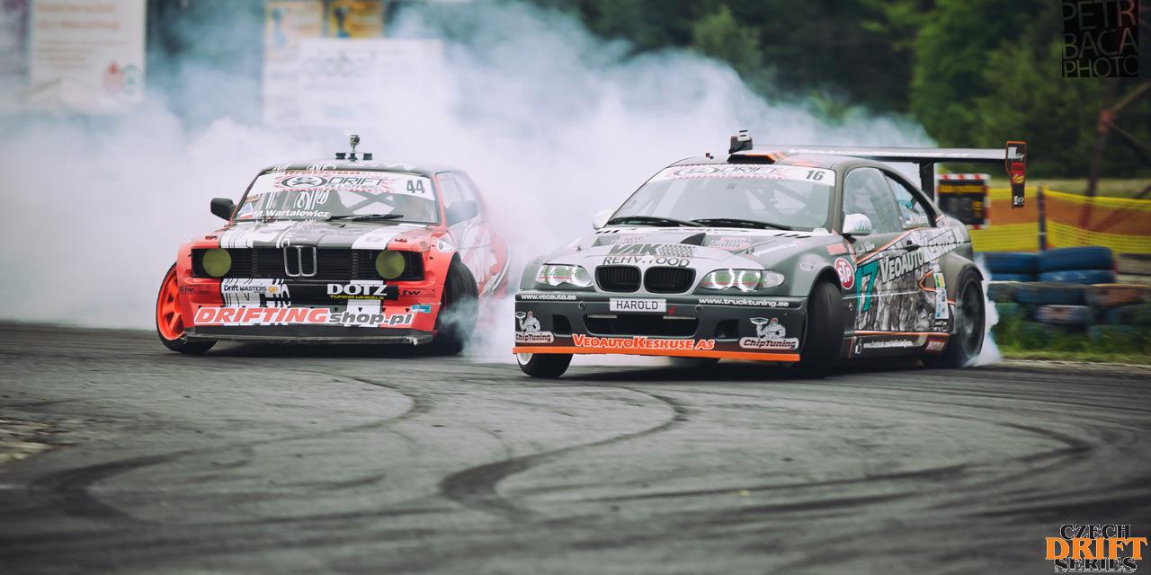 Czech Drift Series, CDS, Drift Allstars, Autodrom Sosnová, Česká Lípa, BMW E21, Marek Wartalowicz, STW Drift Team, Harold Valdma, BMW M3 E46 GTR,