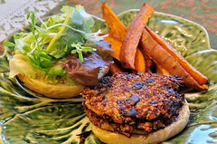 Hickory-Smoked Mushroom Quinoa Burgers with Sweet…