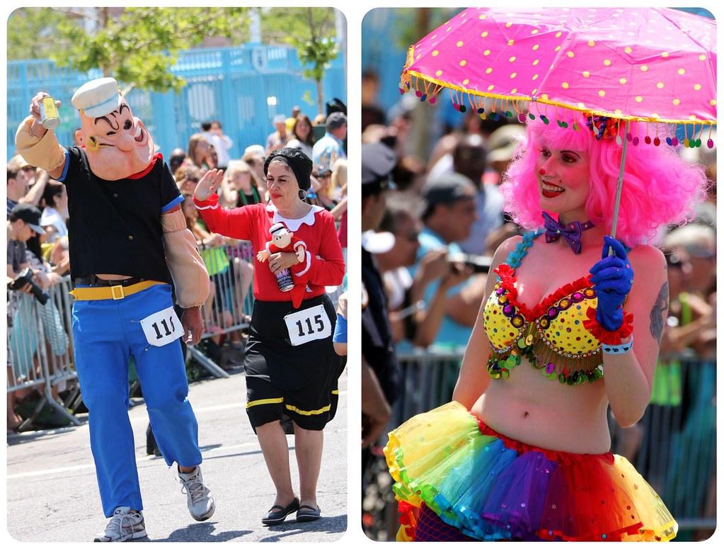 coney island mermaid parade costumes popeye