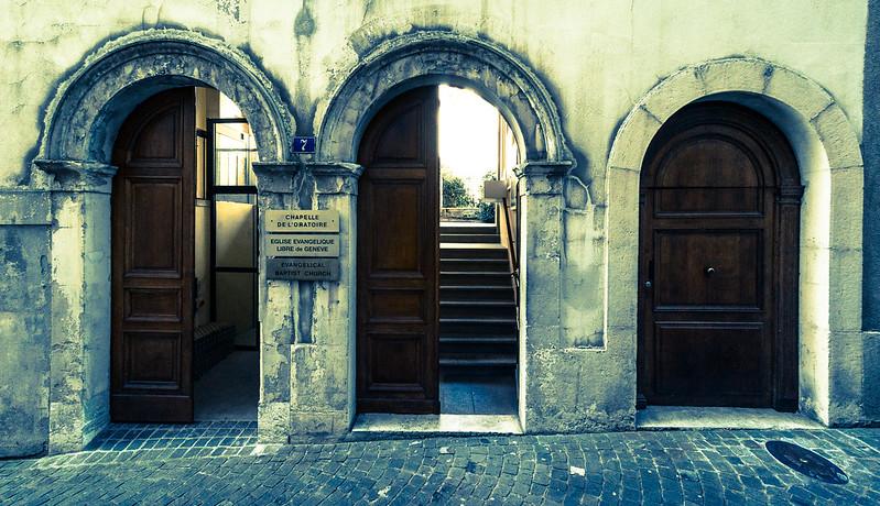 Half Open Old Town Geneva & Three Doors In Geneva Old Town | Flights. Camera. Satisfaction.