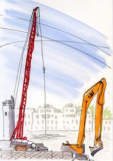 7-28-14 Roosevelt Light Rail Station construction site, Seattle