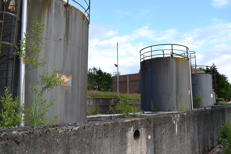 Tanks at abandoned offices