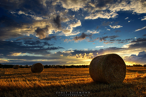 sunset clouds landscape scenery hungary hdr hayball realitydream