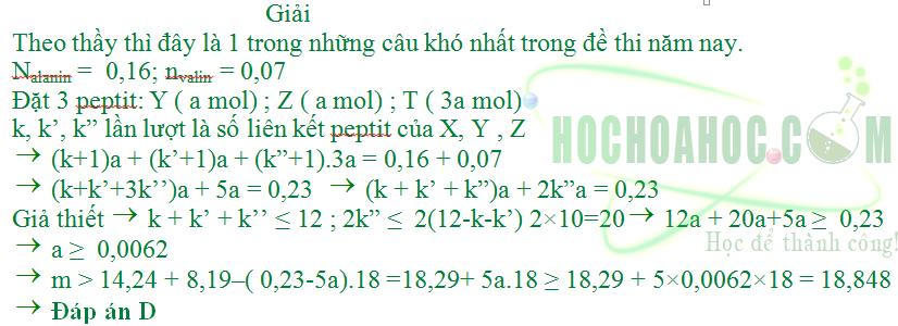 Hỗn hợp X gồm ba peptit đều mạch hở có tỉ lệ mol tương ứng là 1 : 1 : 3.