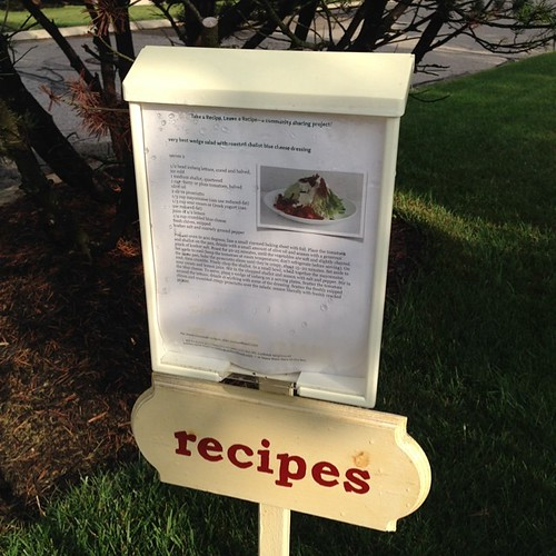 Neighborhood Recipe Exchange. Check it out, @cookingwcaitlin