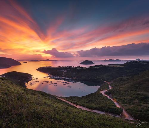 sea sky seascape reflection sunrise canon landscape hongkong 香港 afterglow 布袋澳 田下山 5dmarkii