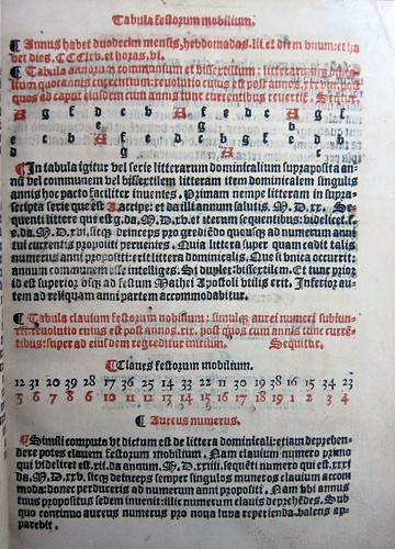 sarum breviary 1556 moveable feasts