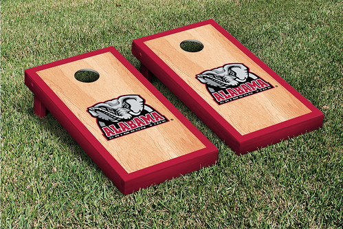 Alabama Crimson Tide Cornhole Game Set Hardcourt