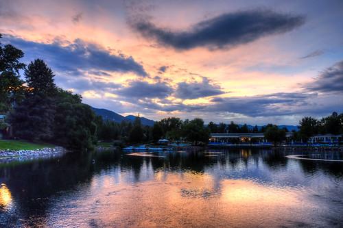 Broadmoor Pools Sunset