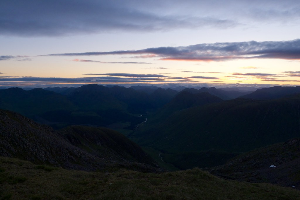 Pre-dawn glow over Glen Etive