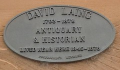 Photo of David Laing black plaque