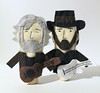 Custom Kris Kristofferson + Waylon Jennings Finger Puppets