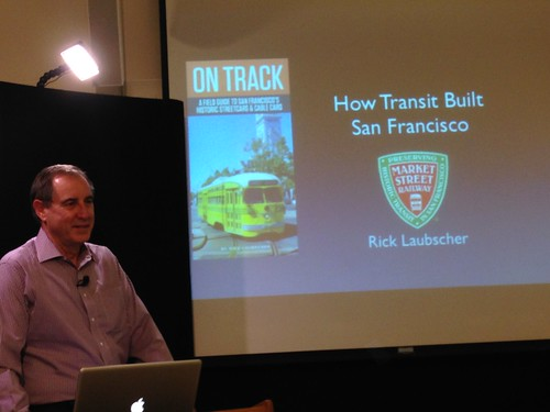 Rick Laubscher about to give a talk on SF streetcars