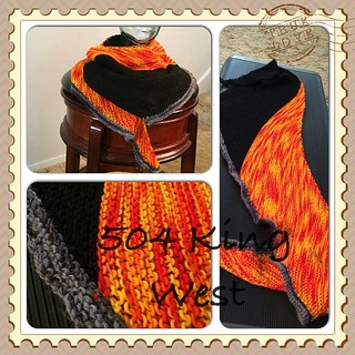 504 King West. Shawlette/scarf pattern free on Ravelry. #knit