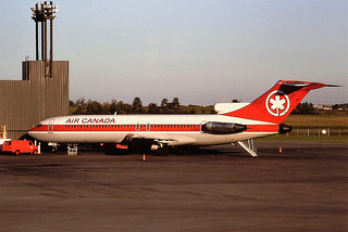 C-GYNC B727 Air Canada Calgary Aug 1988
