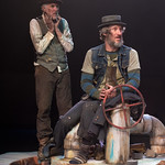 Waiting for Godot - Arvada Center - Pictured L-R: Sam Gregory (Vladimir) and Timothy McCracken (Estragon). Photo Credit: M. Gale Photography 2017