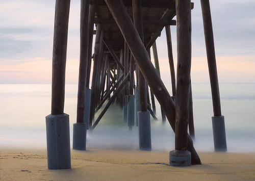 jersey beach landscape pier nj belmar shore water longexposure ocean pastel newjersey unitedstates us