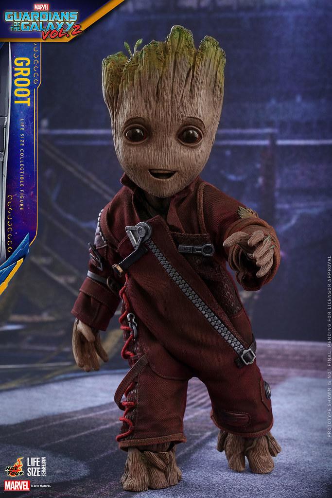 喜歡小格魯特?那就帶一隻Hot Toys 1:1 小格魯特回家吧~ Hot Toys - LMS004 Groot Life-Size Collectible Figure
