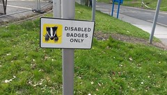 Disabled Sign. Apr 2017
