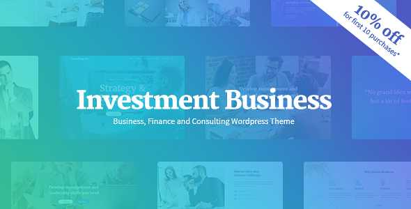 Investment Business WordPress Theme free download