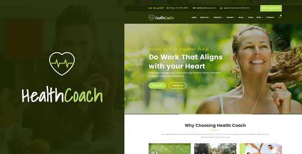 Health Coach WordPress Theme free download