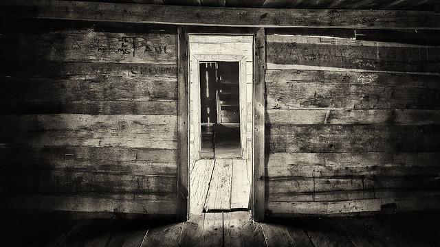 Inside Ephraim Bales' cabin, Great Smokies National Park