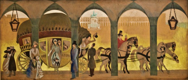 Study fot the painted mural (destroyed) to the Restauradores Post Office (Lisbon) (1940) - José de Almada Negreiros (1893-1970)