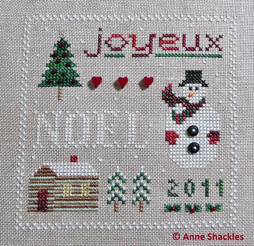 Drawn Thread-Joyeux Noel