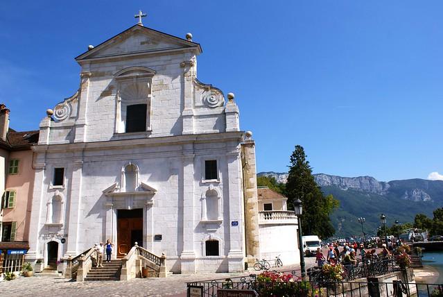 Eglise à Annecy dans le centre ville.