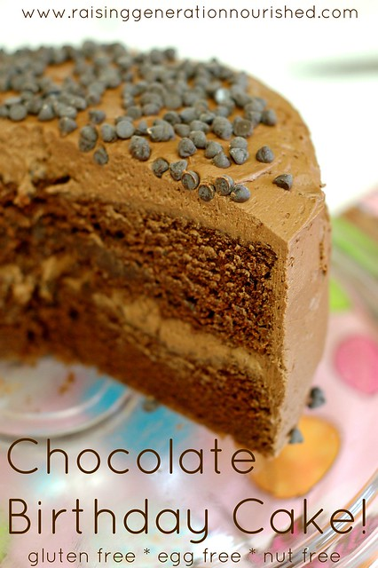 Chocolate Birthday Cake :: Gluten Free, Egg Free, Nut Free