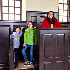 Brooke, Hannah & Wes in the Wren Building at William & Mary.