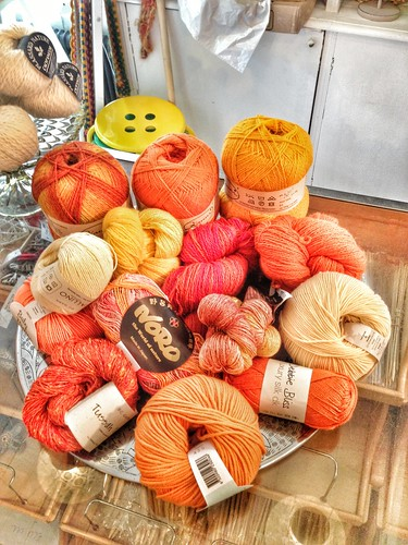 fabulous yellow and orange yarn