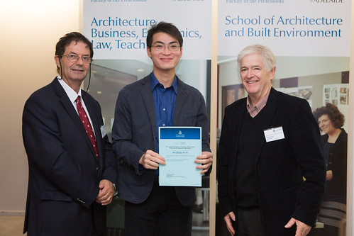 2013 Winner: Duy Dang Presented by Steve Grieve (State Chapter President-AIA) and Prof George Zillante (Head of School)