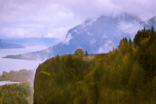 fog oregon view crownpoint vistahouse chanticleerpoint columbiariverscenichighway
