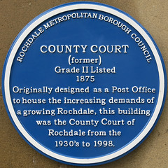 Photo of County Court blue plaque