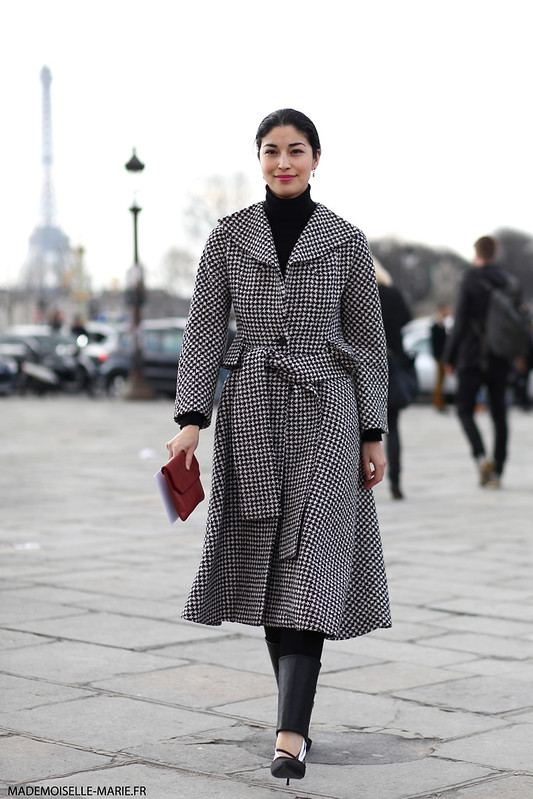 Caroline Issa at Paris fashion week