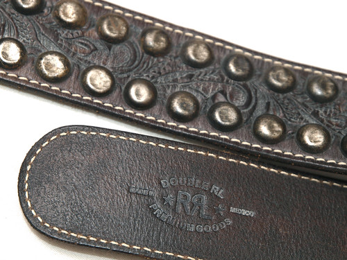 RRL / Tooled Leather Ranger Belt