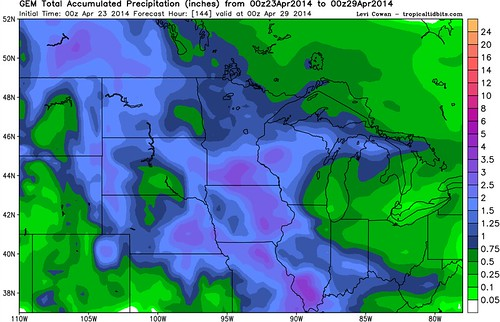 Canadian Total Precip