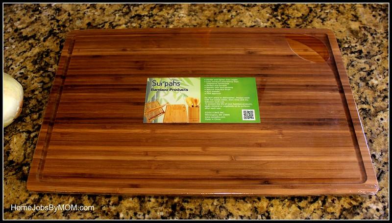 Surpahs 3-Layer Cross-Laminated Bamboo Cutting board