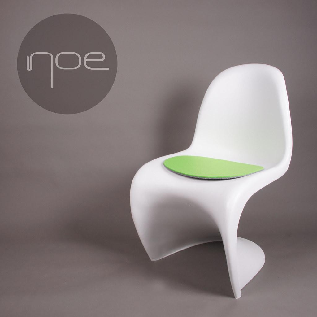 filz auflage geeignet f r panton stuhl sitzauflage chair. Black Bedroom Furniture Sets. Home Design Ideas