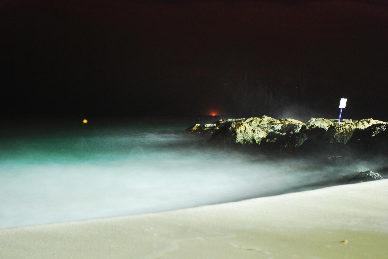Beach, Night Photo, Long Exposure