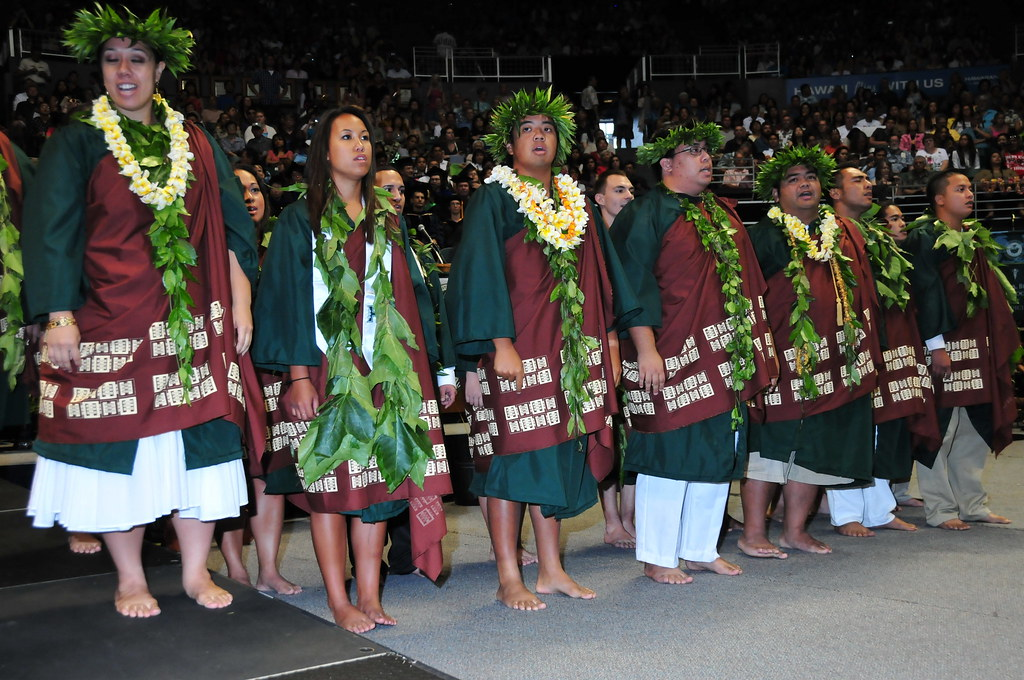 <p>University of Hawaii at Manoa students celebrated at the campus' commencement ceremony at the Stan Sheriff Center on May 17, 2014.</p>