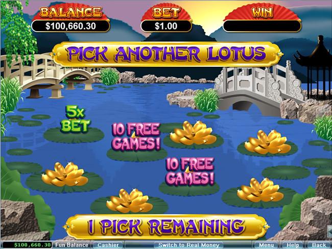 free Golden Lotus slot bonus feature