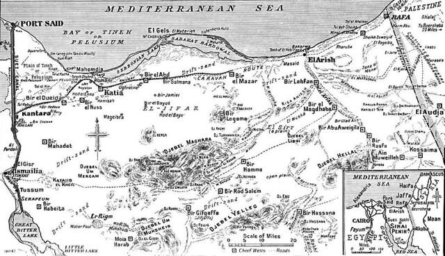 Map of Eastern Desert