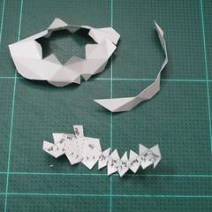 วิธีทำโมเดลกระดาษคุกกี้รสคุกกี้แอนด์ครีม  (Cookie Run Cream Cookie Papercraft Model) 009
