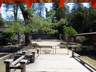 Image of Itsukushima Shrine near Miyajima. japan shrine itsukushima