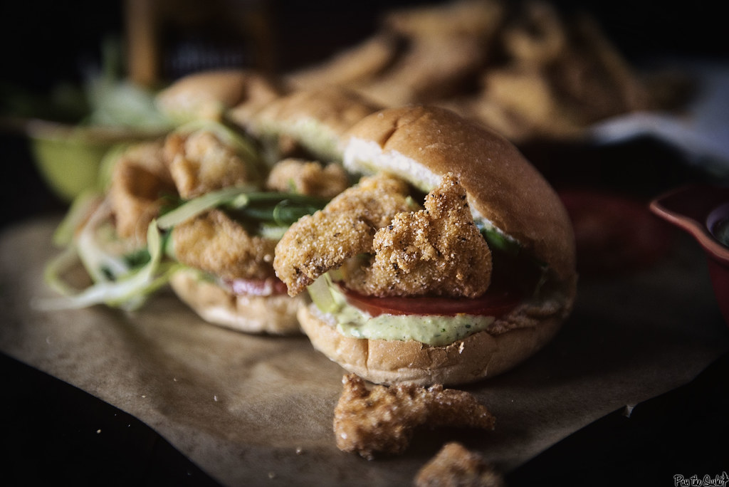 Fried Catfish Po'boys with Spicy Remoulade Sauce || GirlCarnivore.com