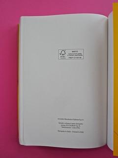 Golden boy, di Abigail Tarttelin. Mondadori 2014. Art director: Giacomo Callo, graphic designer: Susanna Tosatti. Pagina dello stampatore: a pag.: 432, verso della q. di cop., risv. della q. di cop. (part.), 1